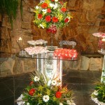 Mesa de Tijolo de Vidro