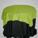 Sobre Toalha de Voil Verde Bordado Quadriculado