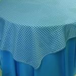 Sobre Toalha Xadrez Azul Turquesa